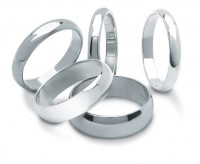 "Standard ""D"" Shaped Wedding Ring"