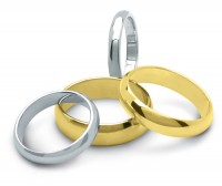 "Heavy Weight ""D"" Shaped Wedding Ring"
