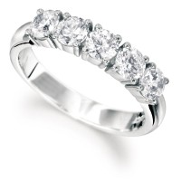 Diamond Five Stone Half-Eternity Ring