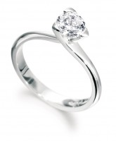 Three claw diamond engagement ring