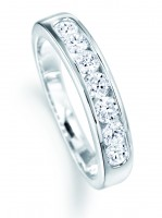 Seven Stone Channel Set Eternity Ring